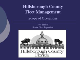 Hillsborough County Fleet Management Scope of Operations