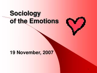 Sociology  of the Emotions