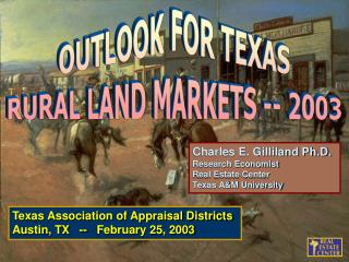 Texas Association of Appraisal Districts Austin, TX   --   February 25, 2003