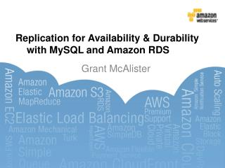 Replication for Availability & Durability  	with  MySQL  and Amazon RDS