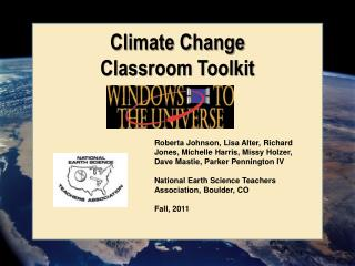 Climate Change  Classroom Toolkit
