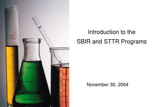 Introduction to the SBIR and STTR Programs