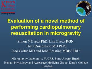Evaluation of a novel method of performing cardiopulmonary resuscitation in microgravity