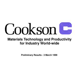 Materials Technology and Productivity  for Industry World-wide