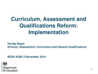 Curriculum, Assessment and Qualifications Reform: Implementation