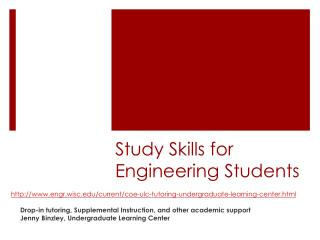 Study Skills for Engineering Students