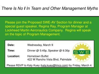 Please RSVP to Katy Kuey ( katy.kuey@lmco ) by Friday, March 4.