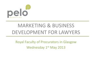 Marketing & business development for lawyers