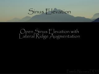 Sinus Elevation