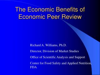 The Economic Benefits of Economic Peer Review