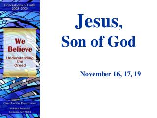 Jesus ,  Son of God