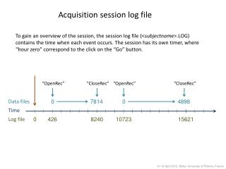 Acquisition session log file