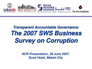 SWS Surveys of Enterprises on Corruption 2000-2007