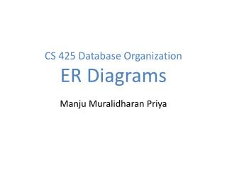 CS 425 Database Organization ER Diagrams
