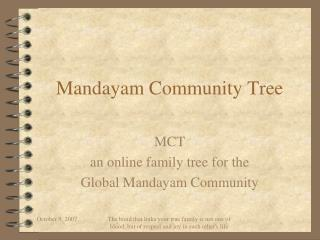 Mandayam Community Tree