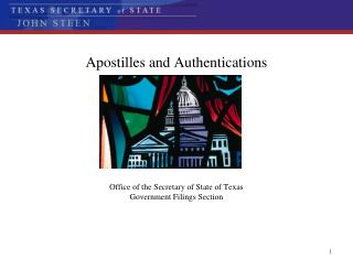 Apostilles and Authentications