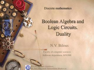 Boolean Algebra and Logic Circuits .  Duality