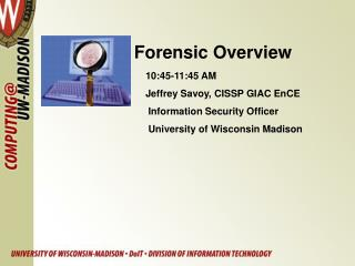 Forensic Overview