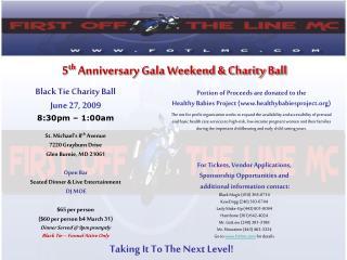 5 th Anniversary Gala Weekend & Charity Ball