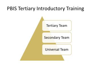 PBIS Tertiary Introductory Training