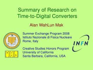 Summary of Research on Time-to-Digital Converters