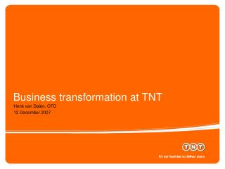 Business transformation at TNT