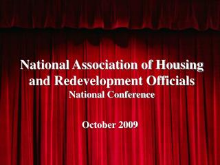 National Association of Housing and Redevelopment Officials National Conference