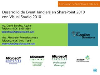 Desarrollo de  EventHandlers  en SharePoint 2010 con Visual Studio 2010