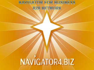 Navigator for business   b2b Network