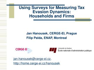 Using Surveys for Measuring Tax Evasion Dynamics: Households and Firms