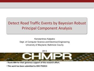 Detect Road Traffic Events by Bayesian Robust Principal Component Analysis