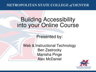 Building Accessibility into your Online Course
