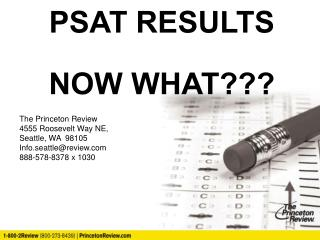 PSAT RESULTS NOW WHAT???