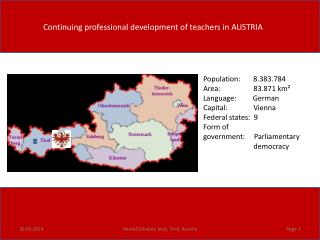 Continuing professional development of teachers in AUSTRIA