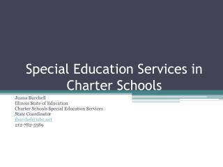 Special Education Services in Charter Schools