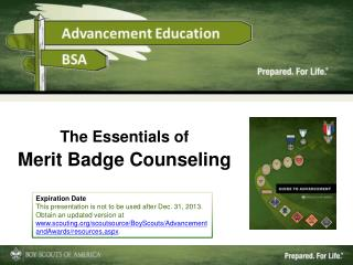 The Essentials of Merit Badge Counseling