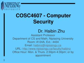 COSC4607 - Computer Security