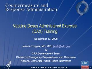 Vaccine Doses Administered Exercise  (DAX) Training