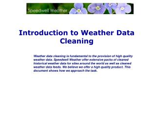Introduction to Weather Data Cleaning