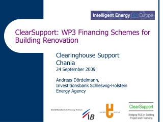 ClearSupport: WP3 Financing Schemes for Building Renovation
