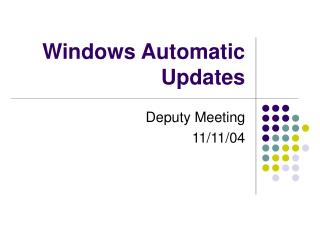 Windows Automatic Updates