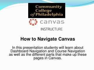 How to Navigate  Canvas