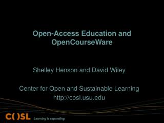 Open-Access Education and OpenCourseWare