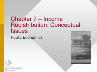 Chapter 7 – Income Redistribution: Conceptual Issues