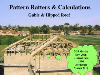 Pattern Rafters & Calculations