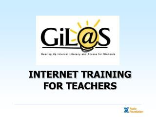 INTERNET TRAINING FOR TEACHERS