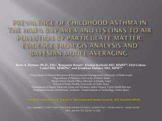 (Published in International  Journal of  Environmental Health Research. 2012 Jun;22(3): 249-69)