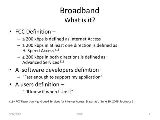 Broadband What is it?
