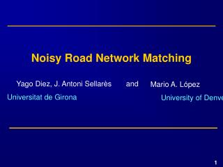 Noisy Road Network Matching