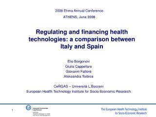 Regulating and financing health technologies: a comparison between Italy and Spain